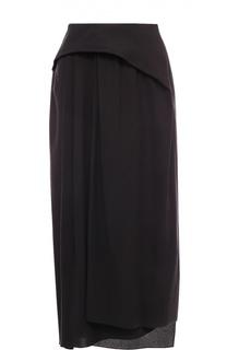 Юбка асимметричного кроя со складками Balenciaga