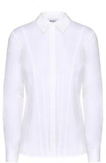 Хлопковая приталенная блуза DKNY