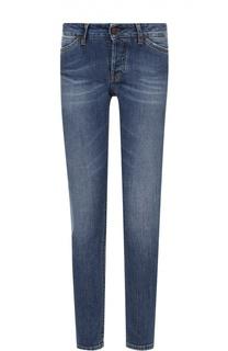 Укороченные джинсы-скинни с контрастной прострочкой Two Women In The World