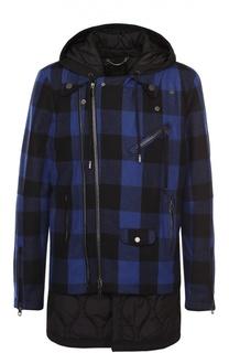 Утепленная куртка на молнии с контрастной отделкой из шерсти Diesel