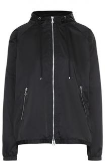 Куртка свободного кроя на молнии с капюшоном Theory