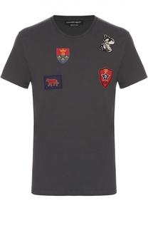 Хлопковая футболка с нашивками Alexander McQueen