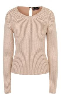 Пуловер фактурной вязки с круглым вырезом Rochas