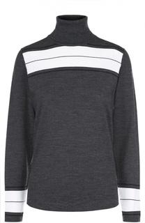 Шерстяной свитер с контрастной отделкой и высоким воротником Kiton
