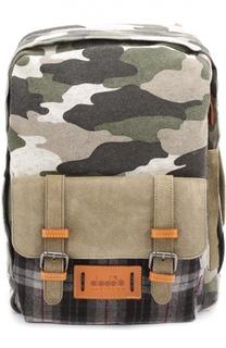 Шерстяной рюкзак с отделкой из натуральной замши Diadora Heritage