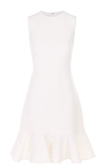 Приталенное мини-платье без рукавов с оборкой Victoria by Victoria Beckham
