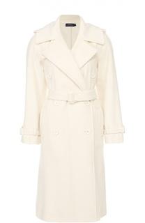 Шерстяное пальто с широкими лацканами и поясом Polo Ralph Lauren
