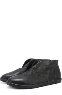 Кожаные ботинки без шнурков Marsell