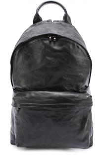 Кожаный рюкзак с внешним карманом на молнии Officine Creative