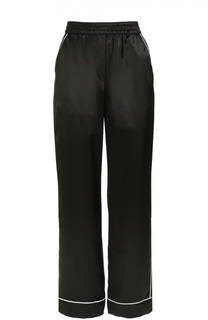 Шелковые брюки с контрастной отделкой Dolce & Gabbana