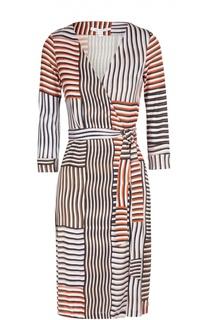 Платье с запахом и поясом New Julian Two из эластичного шелка Diane Von Furstenberg