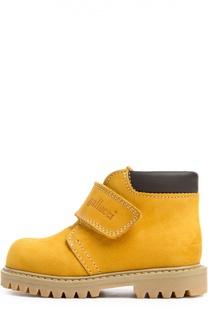 Ботинки из нубука с застежкой велькро Gallucci