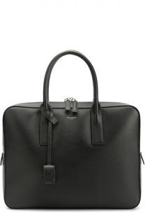 Кожаная сумка для ноутбука Toile Saint Laurent
