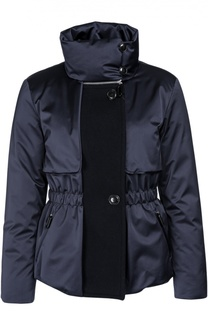 Утепленная приталенная куртка с высоким воротником Giorgio Armani