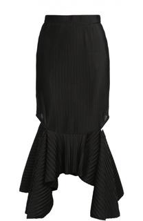 Фактурная юбка асимметричного кроя с разрезами Givenchy