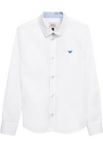Классическая рубашка с воротником кент Giorgio Armani