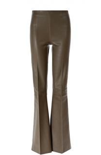 Кожаные расклешенные брюки By Malene Birger
