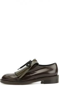Кожаные ботинки с бахромой Marni