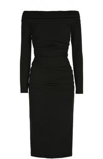 Облегающее платье-миди с открытыми плечами Dolce & Gabbana