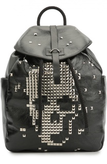 Кожаный рюкзак с изображением черепа из заклепок Alexander McQueen