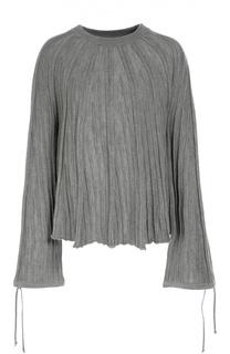 Пуловер фактурной вязки с широкими рукавами Chloé
