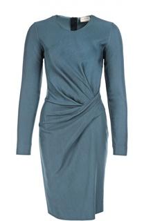 Облегающее платье с длинным рукавом и драпировкой Lanvin