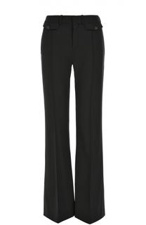 Расклешенные шерстяные брюки со стрелками Chloé