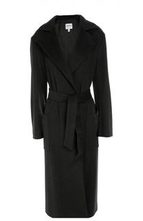 Удлиненное пальто с поясом и широкими лацканами Armani Collezioni