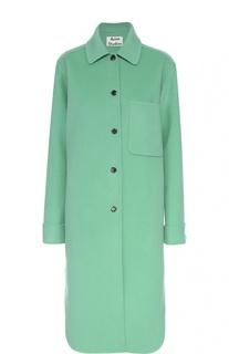 Шерстяное пальто прямого кроя с накладным карманом Acne Studios