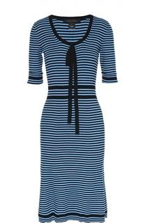 Облегающее платье в полоску с коротким рукавом Marc Jacobs