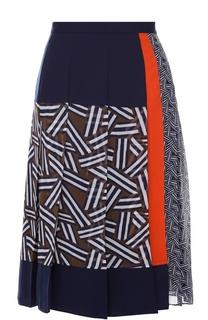 Юбка-миди в складку с ярким принтом Diane Von Furstenberg