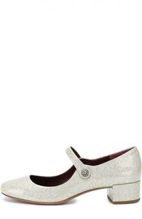 Туфли из лаковой кожи с глиттером Marc Jacobs