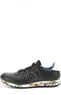 Кожаные кроссовки на подошве с принтом Premiata