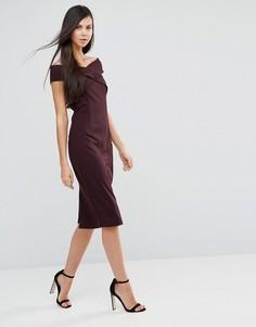 Платье с открытыми плечами Finders Keepers Be Still - Фиолетовый