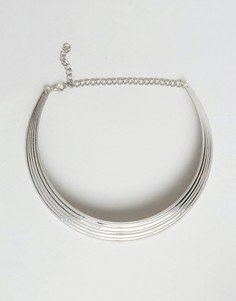 Массивное ожерелье-воротник Ruby Rocks - Серебряный