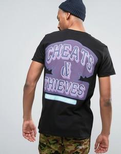 Футболка с принтом Cheats & Thieves - Черный