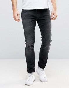 Облегающие черные джинсы Nudie Long John Coyote - Черный