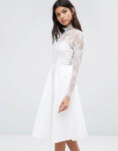 Платье Y.A.S Pretty - Белый