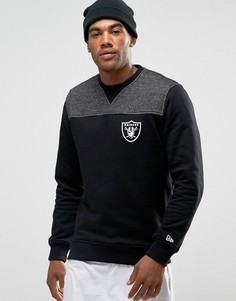 Свитшот с контрастной кокеткой New Era Raiders - Черный