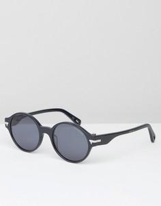 Темно-синие круглые солнцезащитные очки G-Star Grishin - Синий