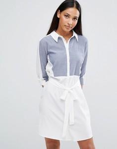 Платье-рубашка со вставкой AX Paris - Белый