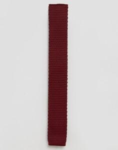 Бордовый вязаный галстук Feraud - Красный