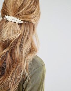 Заколка для волос в виде пера Johnny Loves Rosie - Золотой