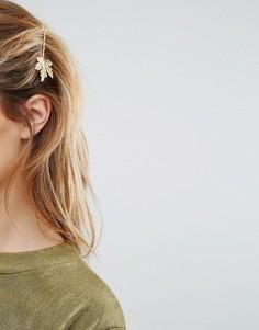 Заколка для волос с листочком Johnny Loves Rosie - Золотой