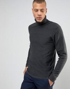 Джемпер из 100% хлопка с отворачивающимся воротом Produkt - Серый