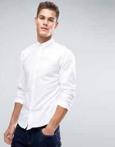 Оксфордская рубашка с планкой на пуговицах Lindbergh - Белый