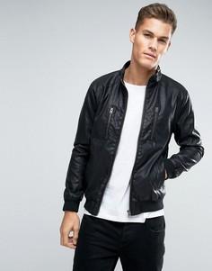 Куртка-пилот из искусственной кожи Lindbergh - Черный