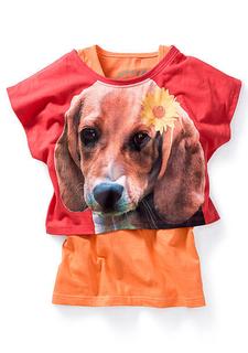 Комплект: футболка + топ