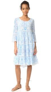 Платье с оборками голубой Misummer Athena Procopiou