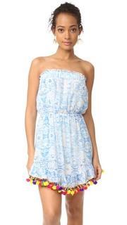 Короткое платье из Misummer голубой Athena Procopiou